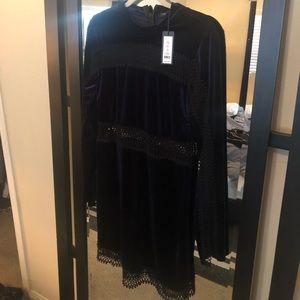 Velvet long sleeve cocktail dress